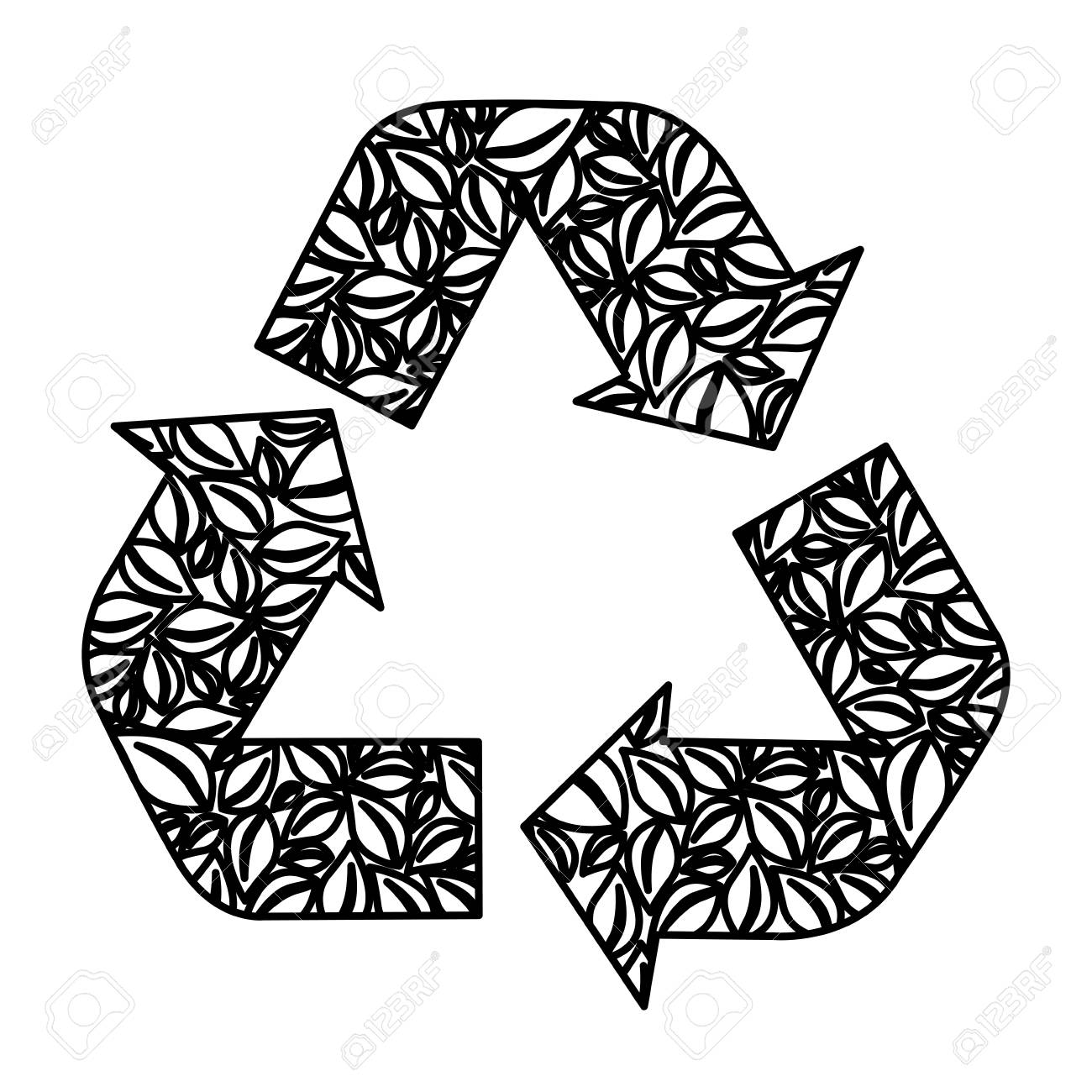 1300x1300 Figure Symbol Reuse, Reduce And Recycle Icon, Vector Illustraction