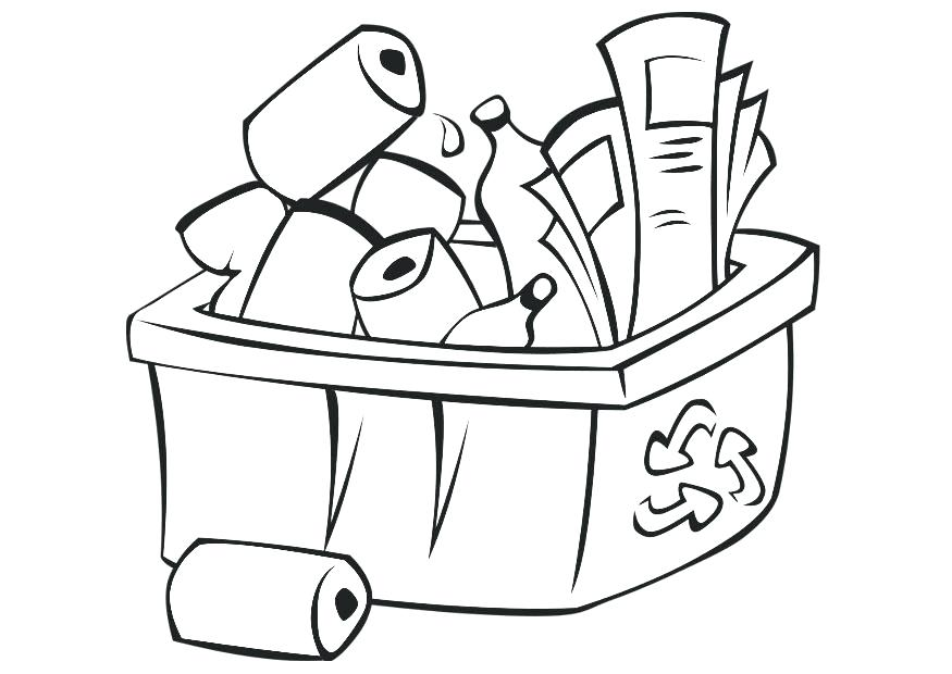 875x620 recycling coloring pages recycle bin colouring page recycling