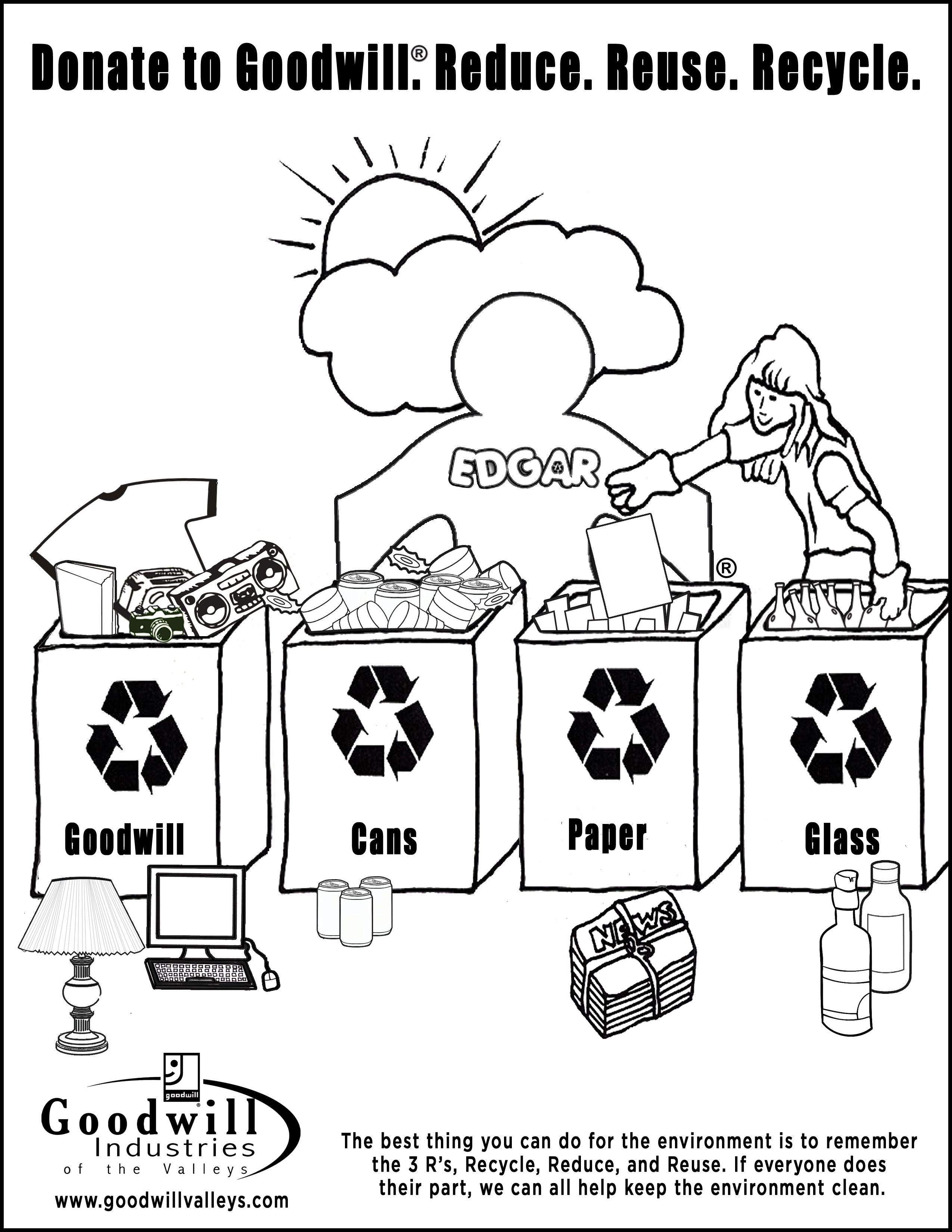 2550x3300 Recycling Coloring Pages
