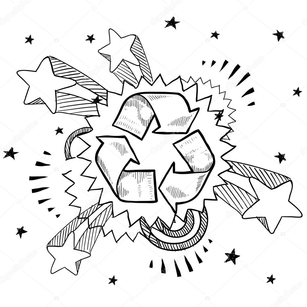1024x1024 Excited About Recycling Sketch Stock Vector Lhfgraphics