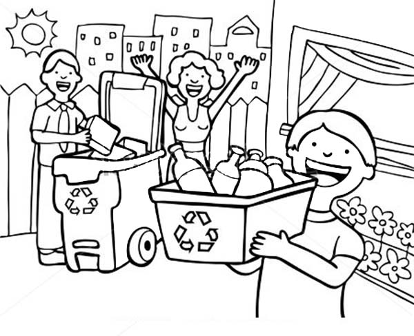 600x488 recycling coloring pages preschool for amusing draw printable