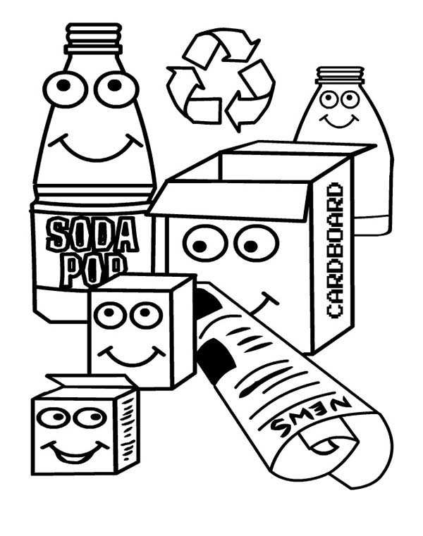 Recycling Drawing at GetDrawings.com | Free for personal use ...