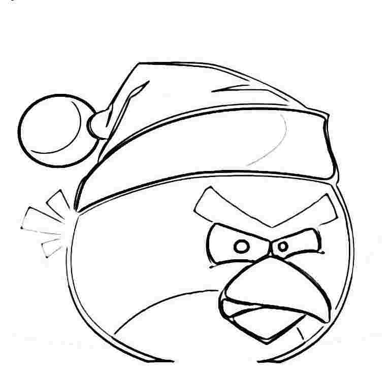772x747 Christmas Angry Birds Coloring Pages Printable Free Coloring
