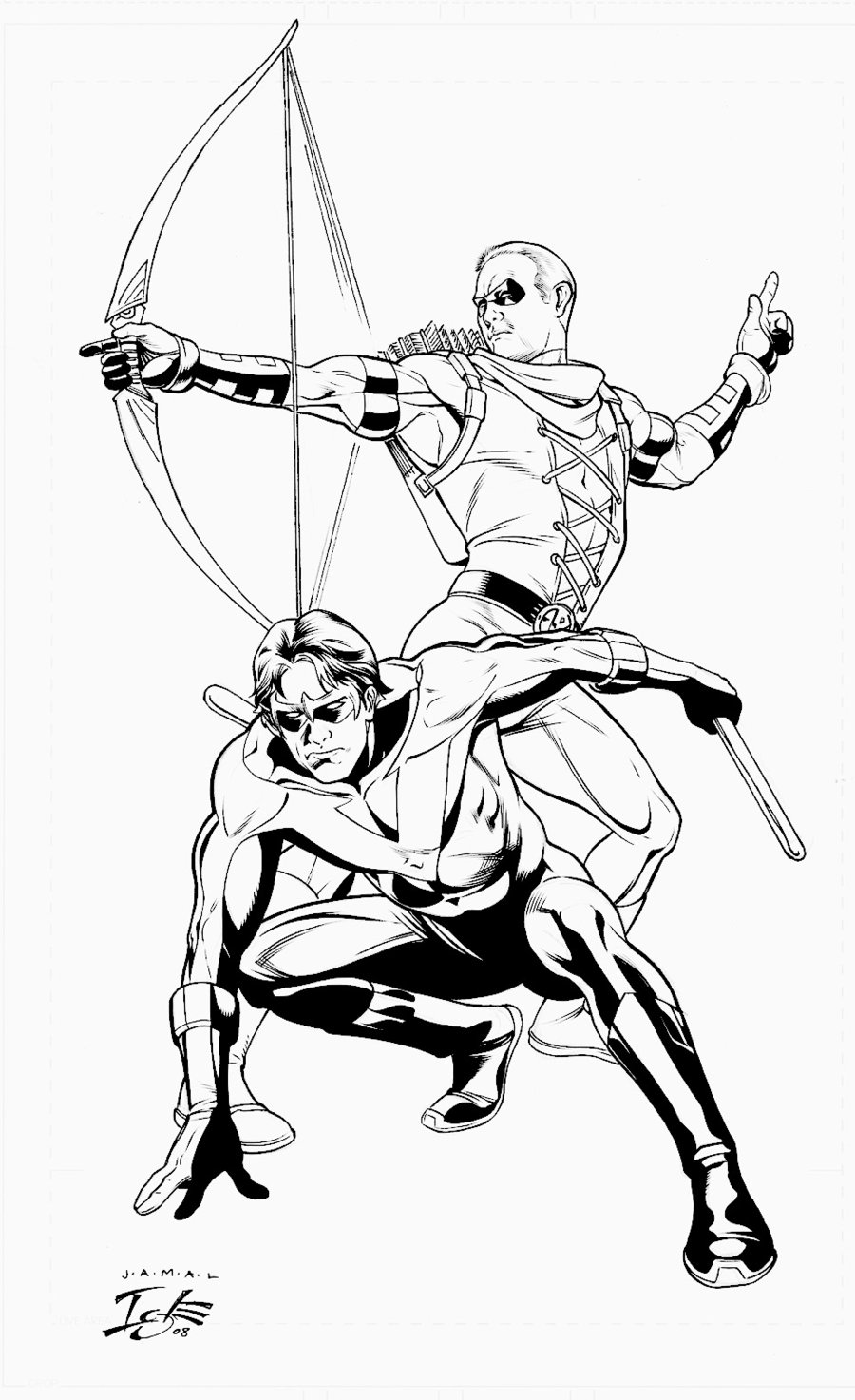 900x1473 Nightwing And Red Arrow By Jamaligle On Roy Harper