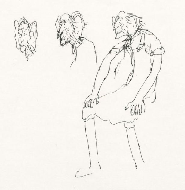 615x633 Roald Dahl Illustrator Quentin Blake's Drawings Are Going On Show