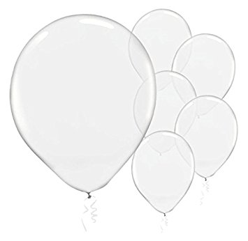 355x346 Enchanting Clear Transparent Solid Latex Balloons