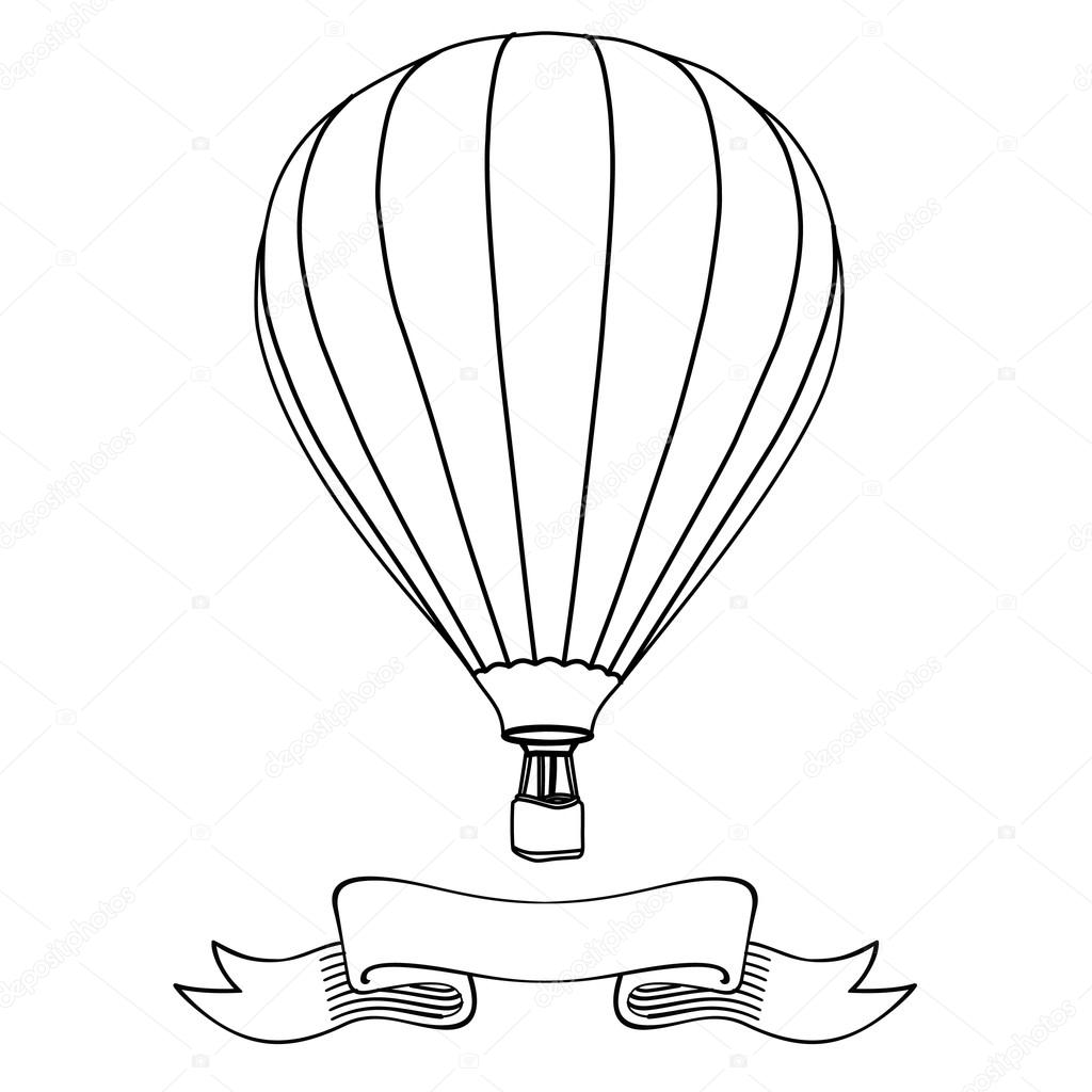 1024x1024 Hot Air Balloon Stock Vector Viktorijareut