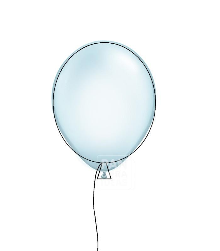 700x800 Baby Blue 12 Metallic Balloon
