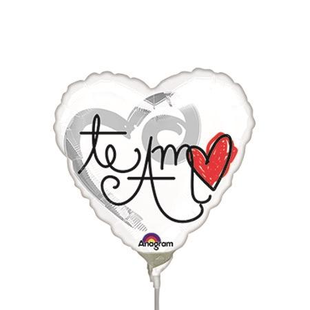 450x450 Inch Te Amo Red Heart Foil Balloon