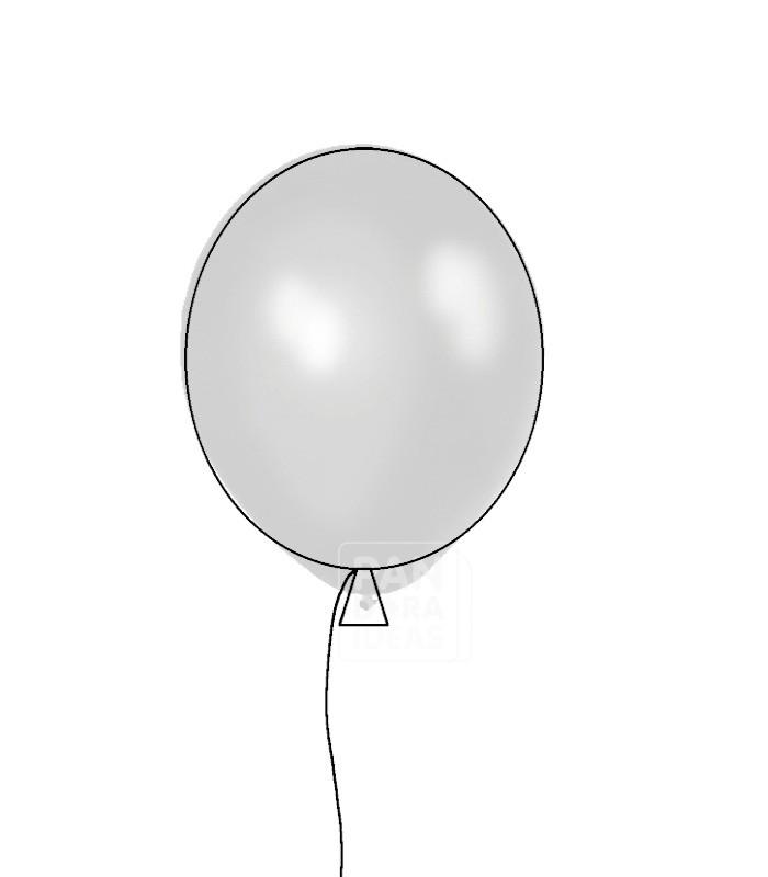 700x800 Silver 12 Metallic Latex Balloon