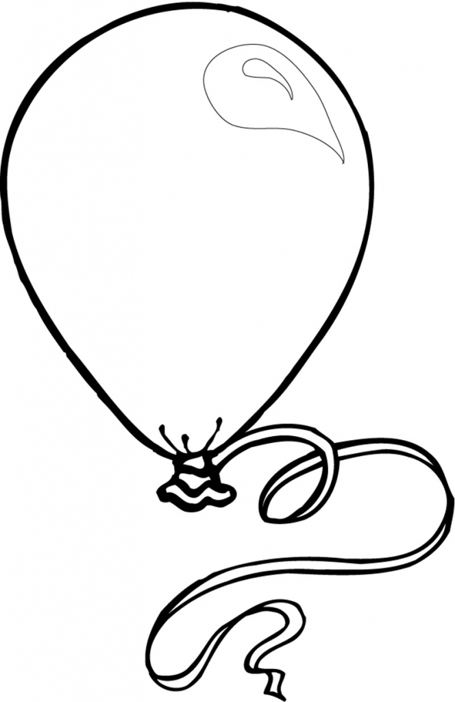 664x1024 Balloon Drawing For Kids