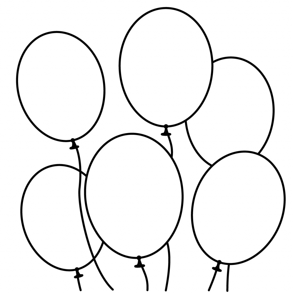 1024x1024 Balloon Drawing For Kids Snowman Clipart Clipart Black And White