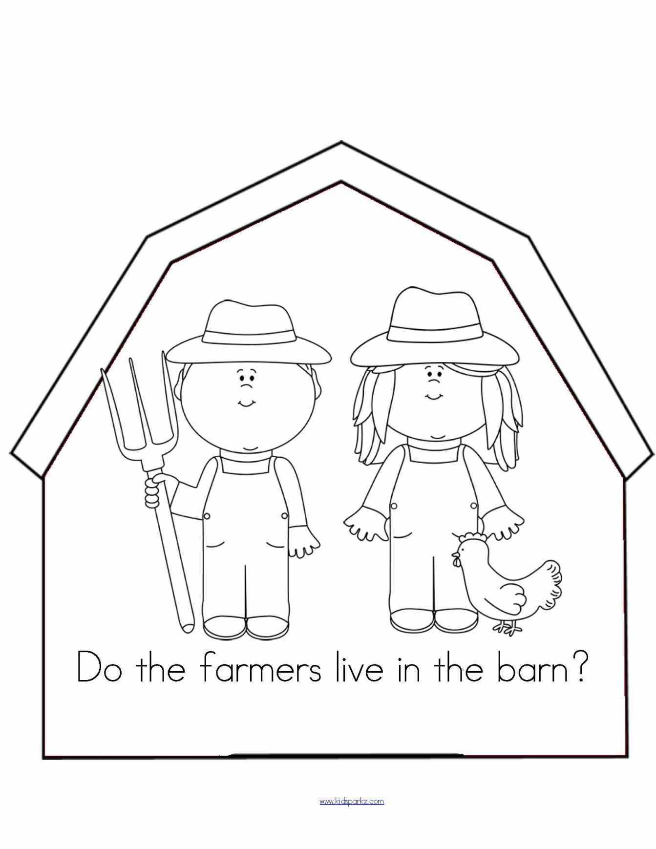 1343x1738 Barn With Animals Drawing