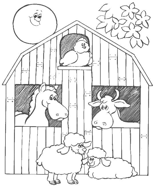 549x659 big red barn coloring pages barn animals colouring pages these
