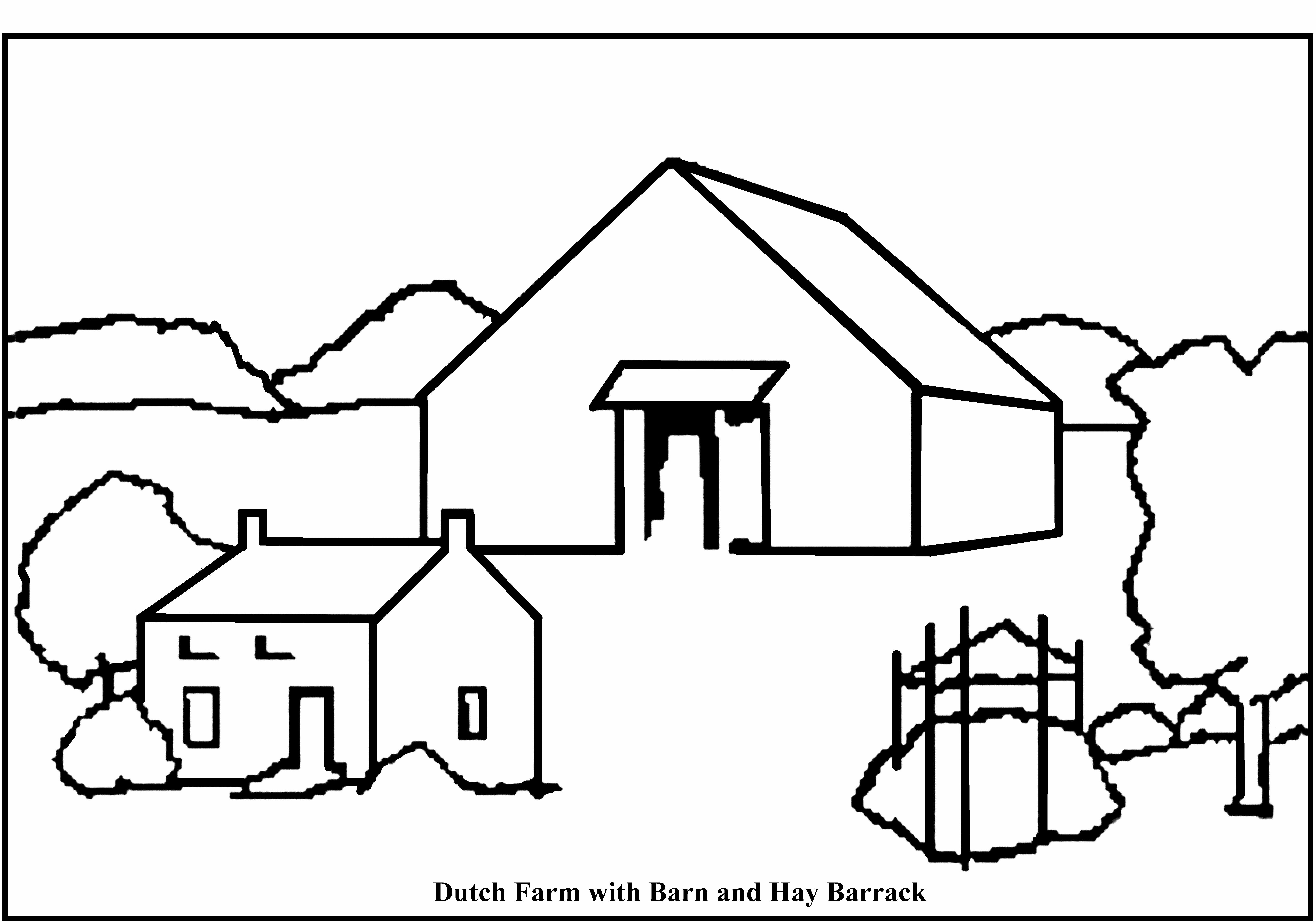 6531x4578 Coloring Page Barn Red Barn Coloring Page. My Barn Coloring Page