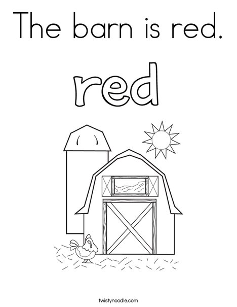 468x605 The Barn Is Red Coloring Page