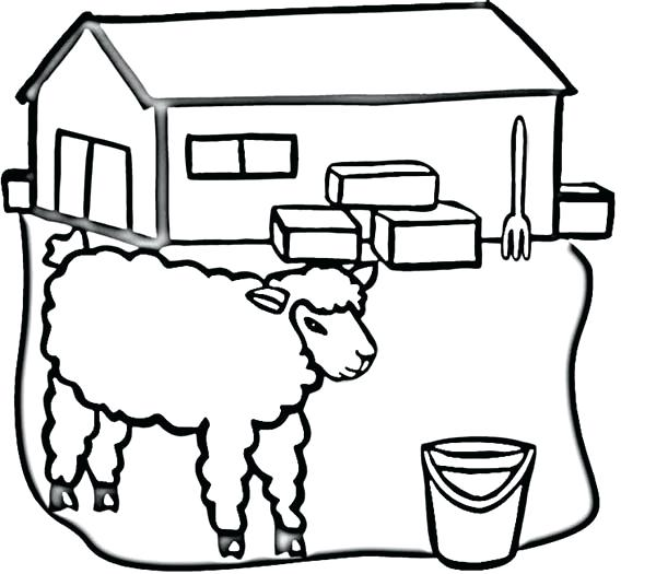 600x525 Barn Coloring Page Barn The Barn Is Red Coloring Page Barnyard
