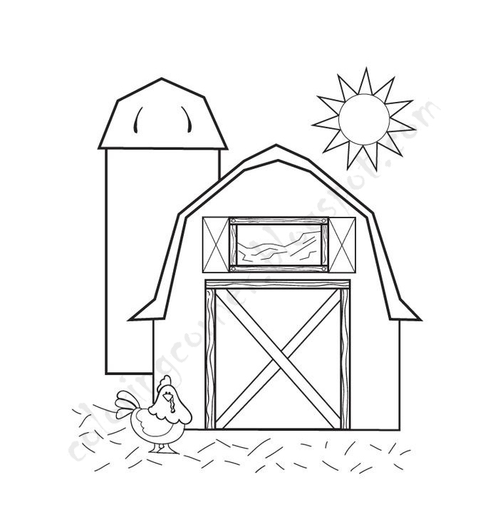 685x746 Barn Coloring Pages