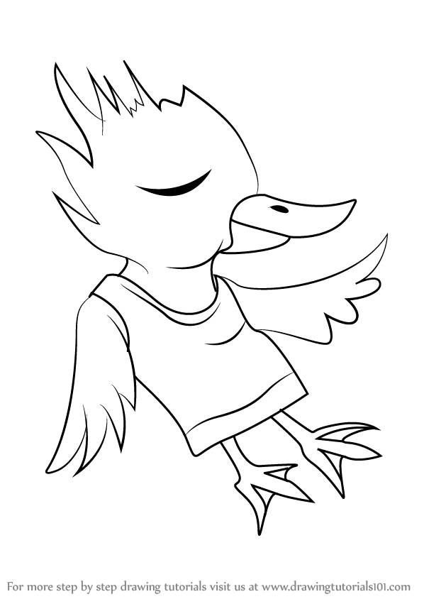 598x844 Learn How To Draw Red Bird From Undertale (Undertale) Step By Step