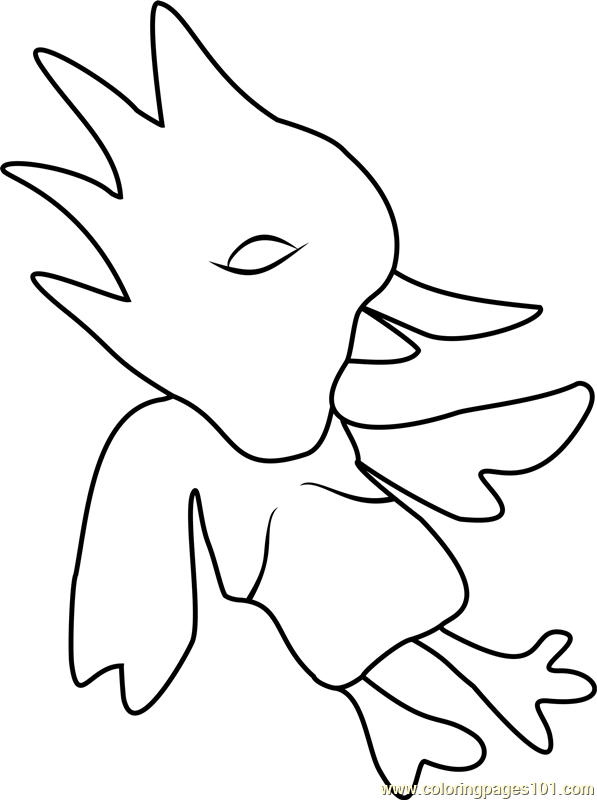 597x800 Red Bird Undertale Coloring Page