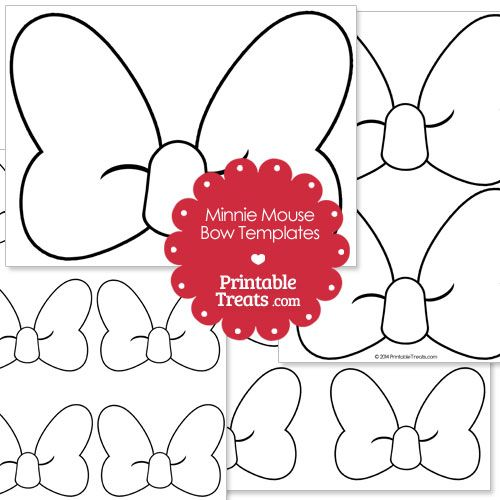 500x500 Printable Minnie Mouse Bow Template