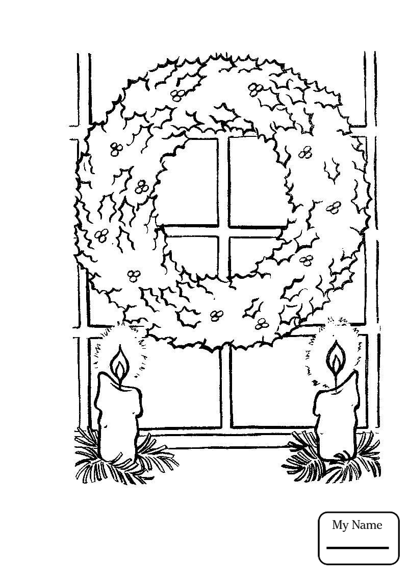 800x1126 Coloring Pages For Kids Holidays Christmas Wreath With Red Bow