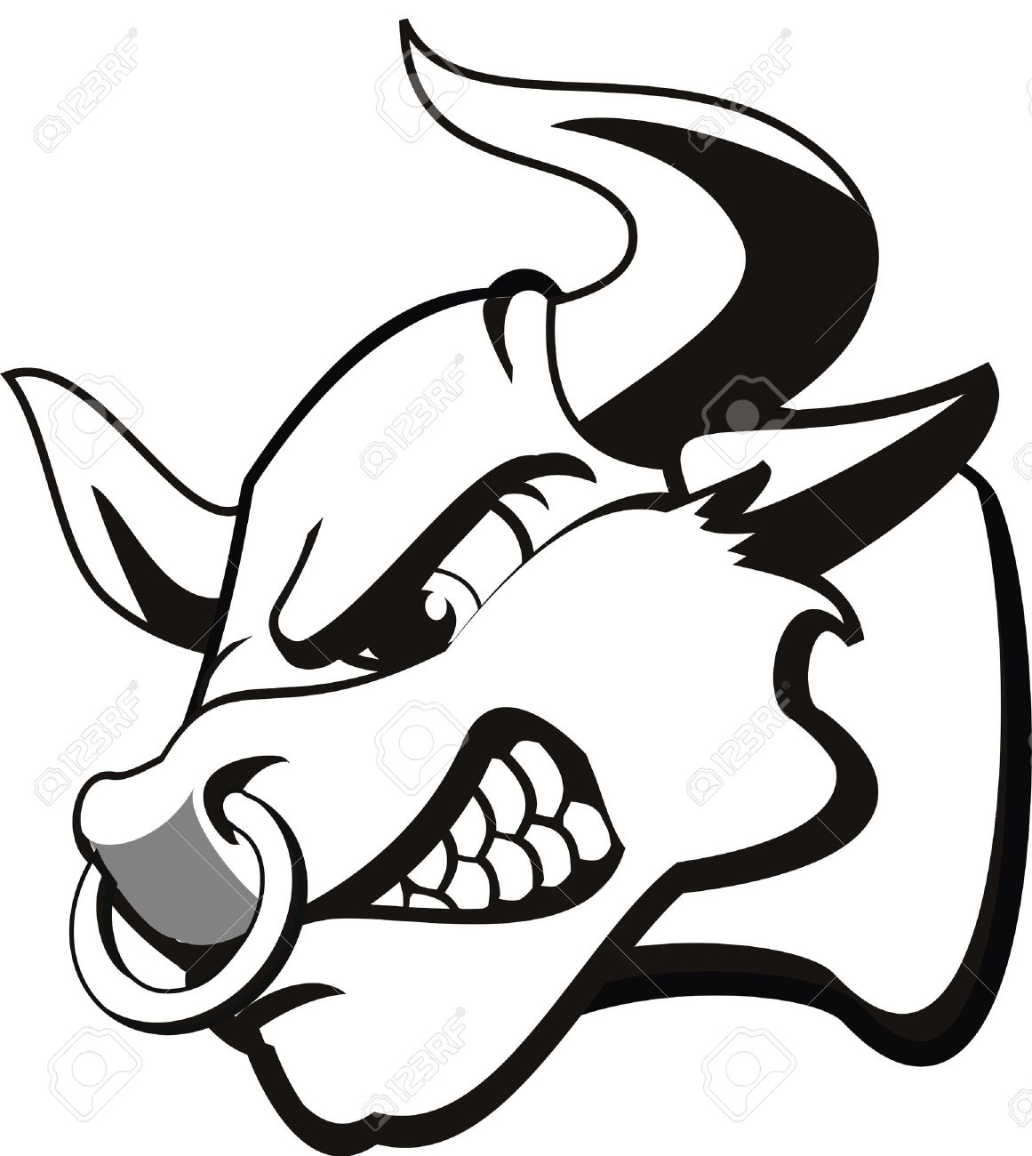 1161x1300 Tattoo Of A Red Bull. Very Angry Royalty Free Cliparts, Vectors