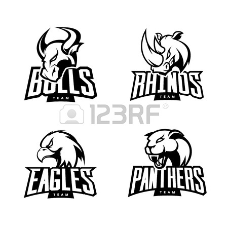 450x450 Furious Rhino, Bull, Eagle And Panther Sport Vector Logo Concept