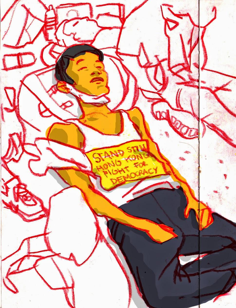 969x1265 Eyewitness Sketches Of Hong Kong Pro Democracy Protests Urban
