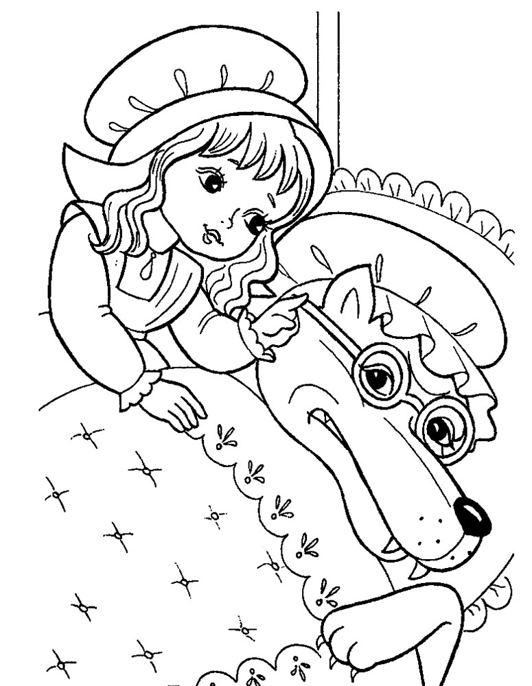 775x1000 Red Riding Hood Coloring Pages