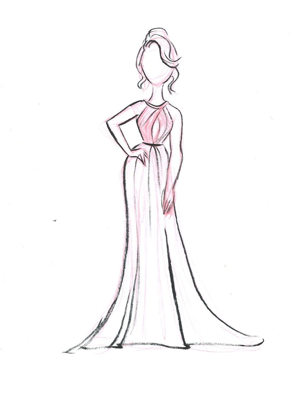 1000x1310 Red Carpet Recap Our Live Sketches From The Oscars Fashion