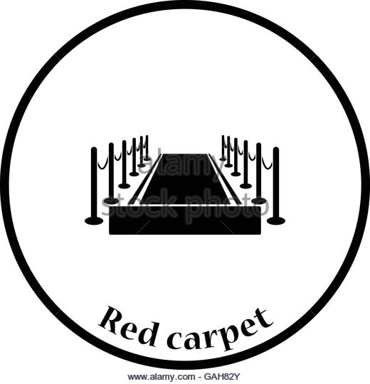 520x540 Velvet Rope Red Carpet Stock Vector Images