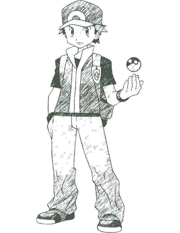 612x792 Fire Red Pokemon Coloring Pages Pokemon Trainer Red By