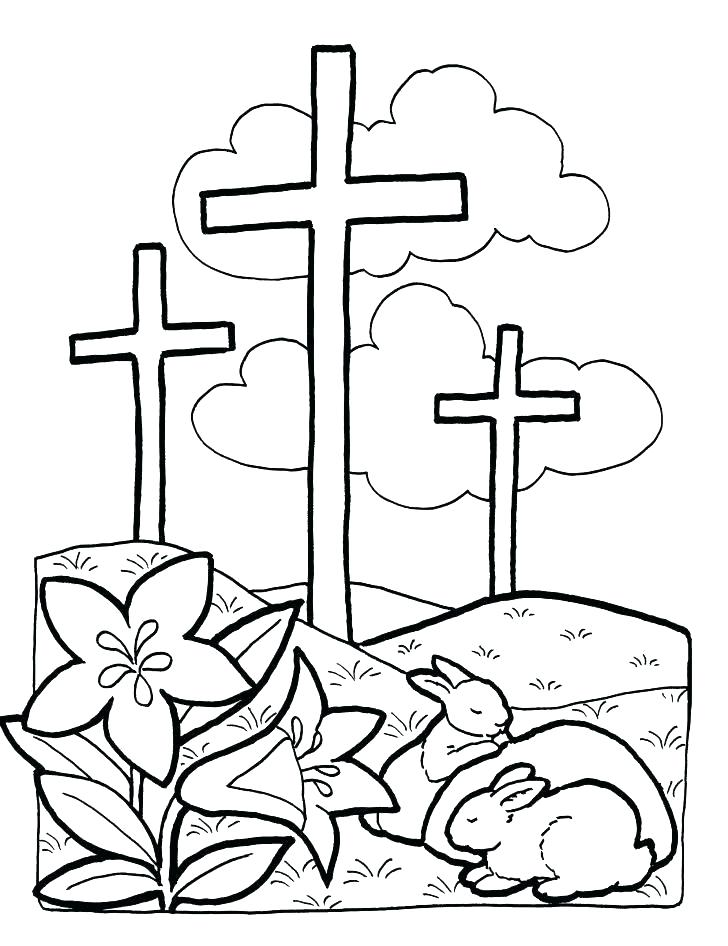 728x946 Cross Color Page Rose Decorated Cross Coloring Pages Best Place