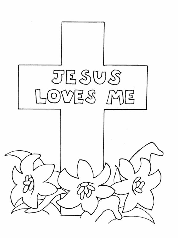 600x800 Jesus Loves Me Cross Coloring Pages Catholic Kidscrafts