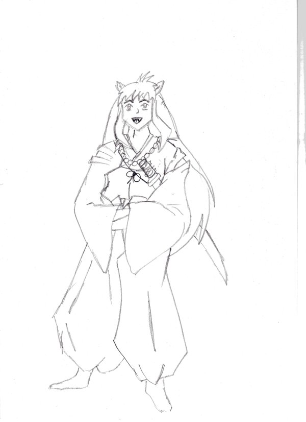 600x826 Inuyasha Rough By Red Devil Saz