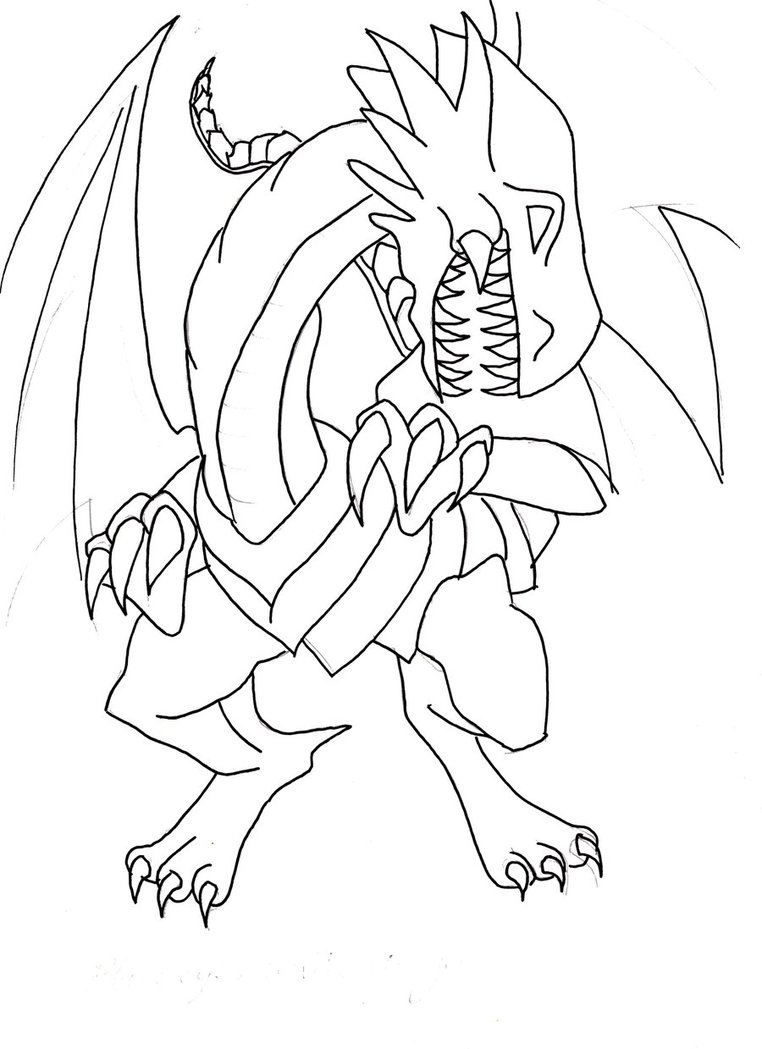 762x1049 Blue Eyed White Dragon Lineart By Red Devil Saz