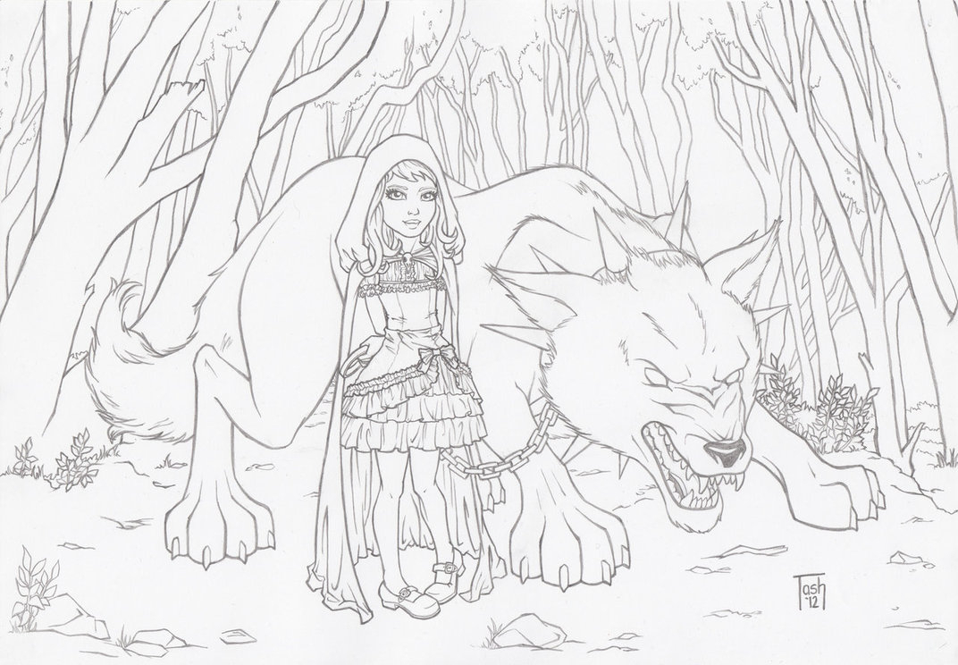 1072x744 Big Bad Wolf Drawing Little Red And Her Big Bad Wolf By Tashotoole