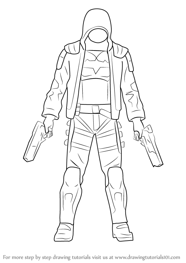 598x844 Learn How To Draw Red Hood (Red Hood) Step By Step Drawing Tutorials
