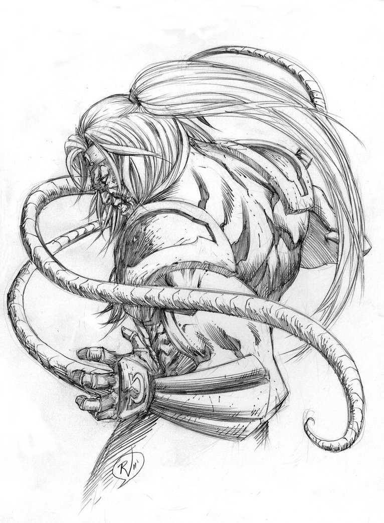 766x1044 Omega Red Sketch By Rudyvasquez