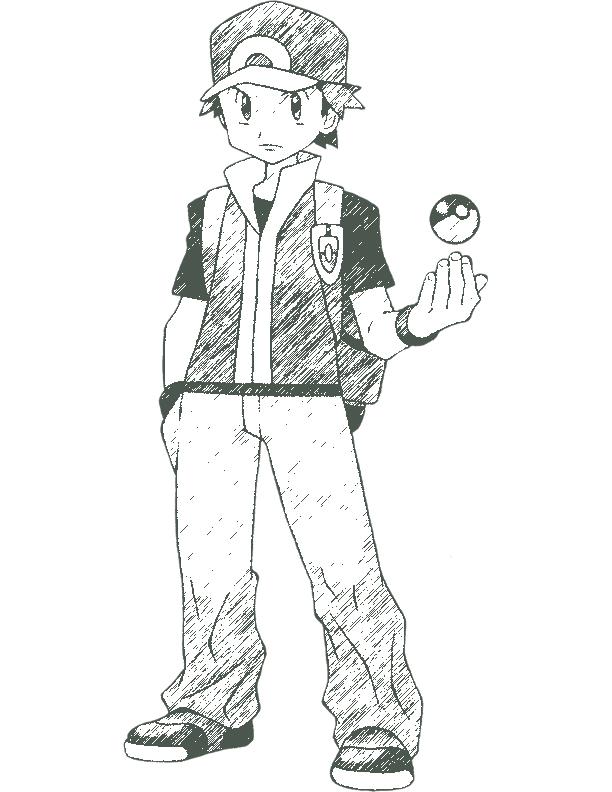 612x792 Pokemon Trainer Red By Redgaijin1991