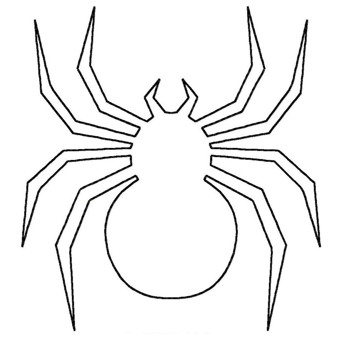 1146x1146 Red Back Spider Drawing Spider Coloring Pages