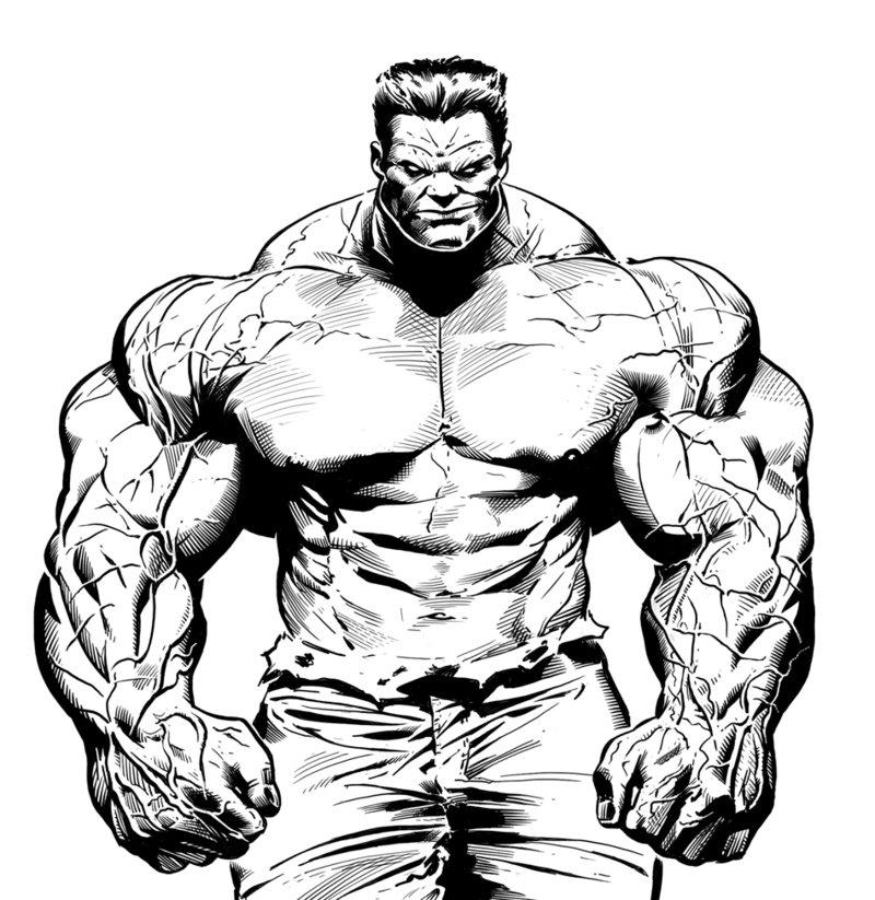 800x823 Red Hulk By Luispuig