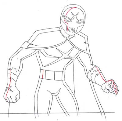 400x398 Red X Drawing By Tonicshadow