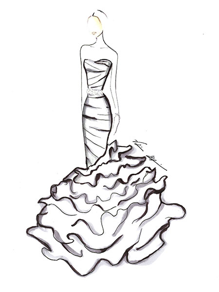 450x600 Designers Sketch What Upcoming Celebrity Brides Should Wear