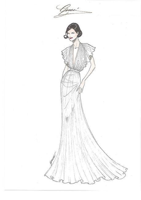 459x650 Elizabeth Mcgovern's Eco Friendly Gucci Dress
