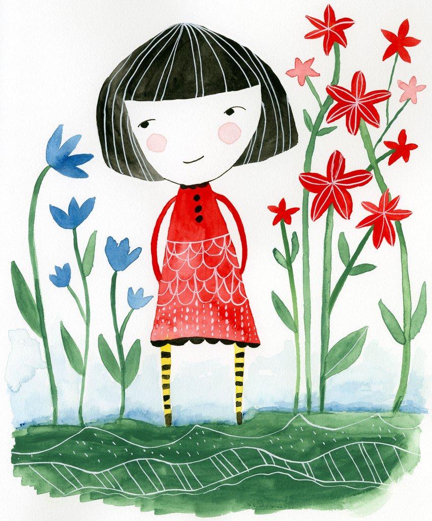 850x1024 Girl In Red Dress