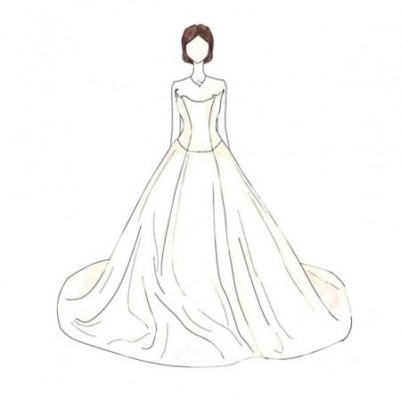 450x450 Illustrations Of Every Celebrity Wedding Dress Ever Weddings