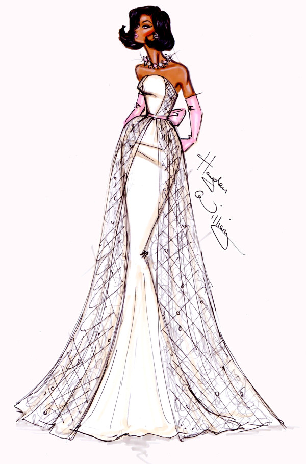 600x910 Inauguration Ball Couture By Hayden Williams Michelle Obama