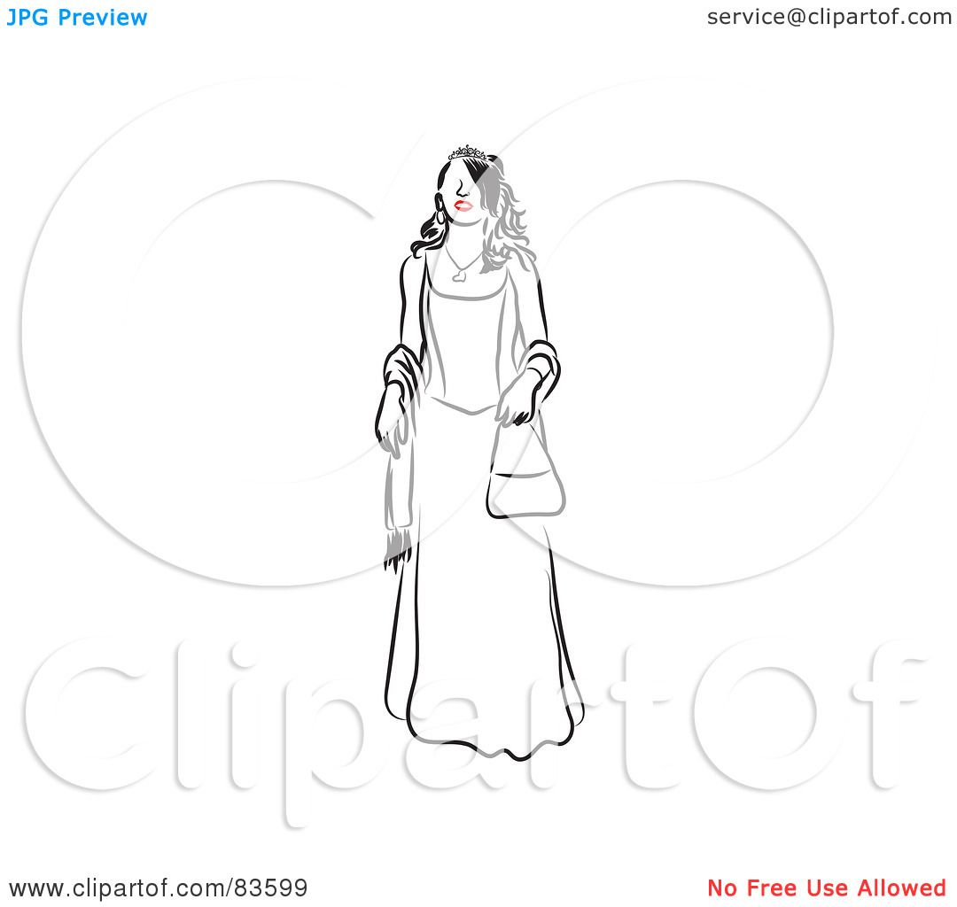 1080x1024 Royalty Free (Rf) Clipart Illustration Of A Line Drawing Of A Red